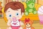 Bebé con osito de peluche