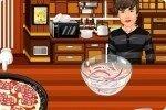 Cocina pizzas con Bieber