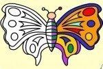 Colorea la mariposa