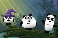 Fantasía de 3 pandas