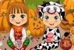 Gemelos en Halloween