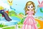La princesa en el parque de agua